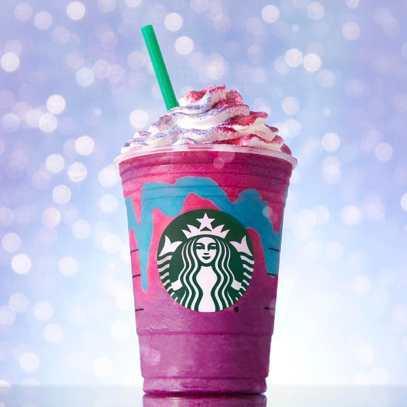 The coffee behemoth took full advantage of social media's colorful food photography trend. - STARBUCKS