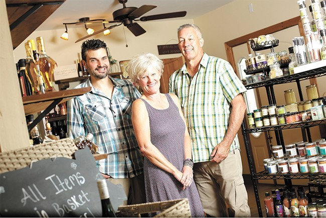 Petunias' new owners as of summer 2017: Matt Dolan (left) and Tammy and Russell Fleming, plan to carry on its local legacy.