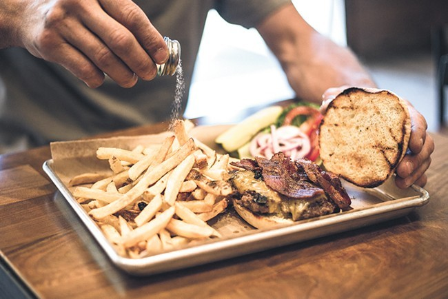 Rustic's burgers are served on its housemade potato buns.