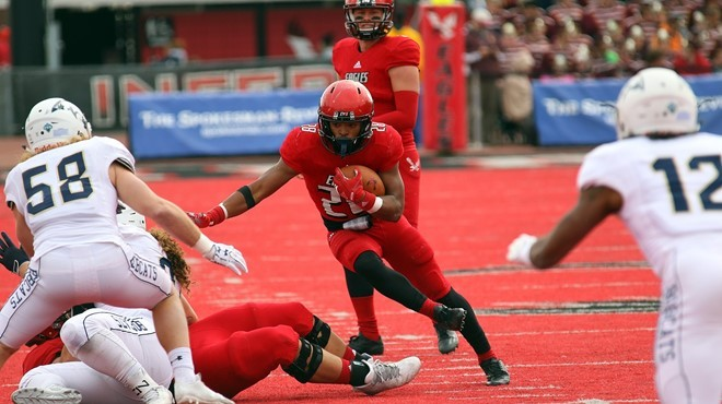Antoine Custer Jr. carried Eastern Washington to victory against Montana State. - EWU ATHLETICS