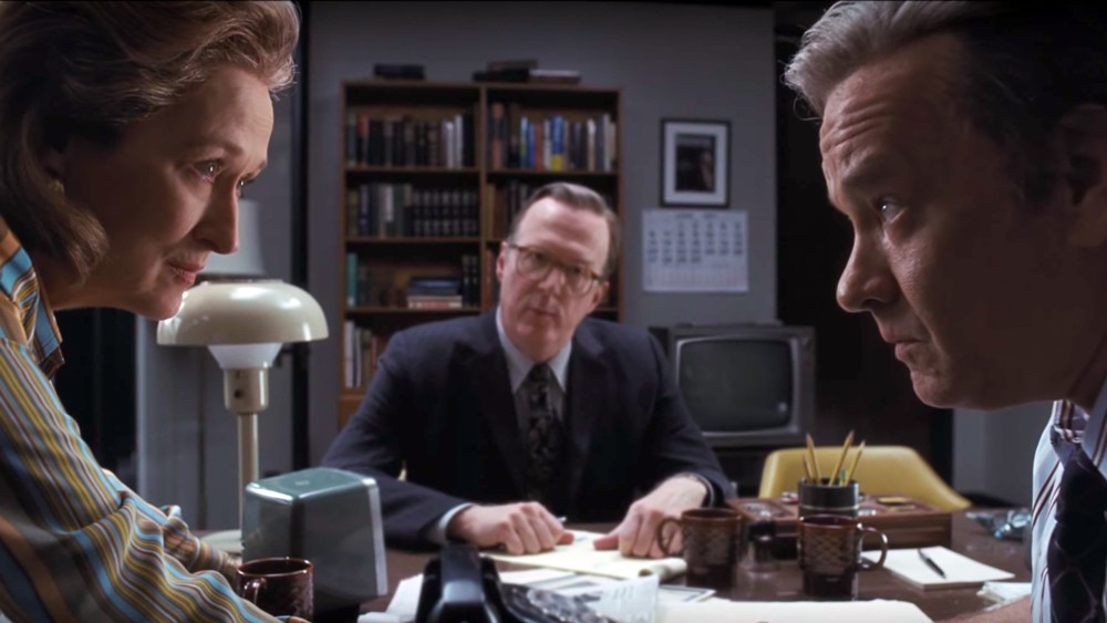 Meryl Streep and Tom Hanks in Steven Spielberg's The Post.
