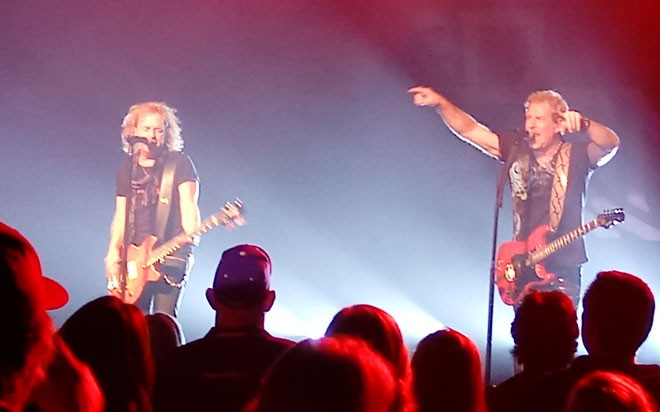 Night Ranger's Jack Blades (left) and Brad Gillis, two of the band's founders. - DAN NAILEN