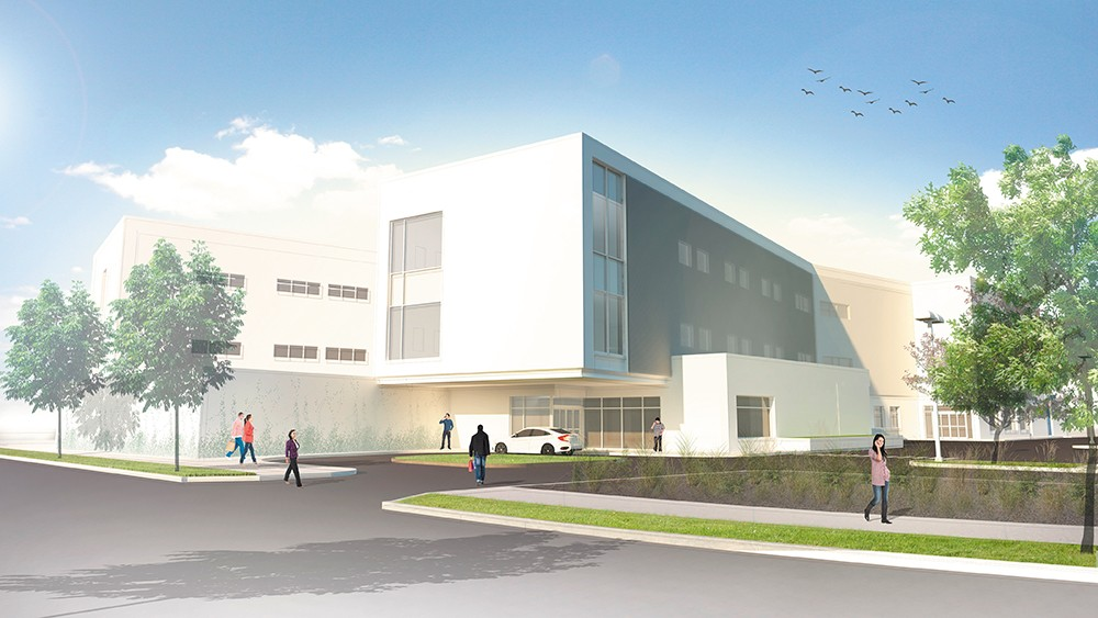An architectural rendering of the new behavioral health hospital, to open in 2018.