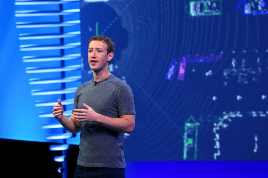 Mark Zuckerberg at a Facebook conference in San Francisco, April 12, 2016. - JIM WILSON/THE NEW YORK TIMES