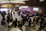 People gather in the bar during the opening of the First Interstate Center for the Arts in Spokane, Wash., Monday, Nov. 5, 2018.