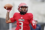 Eastern Washington quarterback Eric Barriere (3) throws a pass during the first half of an NCAA Football Champion Subdivision quarterfinal game against UC Davis in Cheney, Wash., Saturday, Dec. 8, 2018. (Young Kwak/The Inlander)
