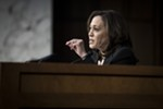 Sen. Kamala Harris (D-Calif.) questions William Barr, President Donald Trump's nominee for attorney general, during Barr's confirmation hearing before the Senate Judiciary Committee in Washington, Jan. 15, 2019. Harris, a barrier-breaking prosecutor who became the second black woman to serve in the U.S. Senate, declared her candidacy for president on Jan. 21.
