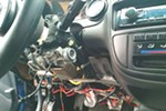 A thief ripped out the dashboard and punched out the ignition to steal an older Honda Civic.