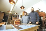 Craft and Lore owner Chad Von Lind (right) and maker Michael Miles at their Coeur d'Alene shop.