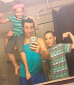 Isaiah and his younger siblings take a selfie.
