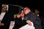 Gavin Grimm, 17, a transgender student with a lawsuit before the Supreme Court next month, was embraced by Vanessa Ford, whose daughter is transgender, at a rally outside the White House on Wednesday.