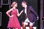 Rose Hemingway and Curt Hansen perform in the traveling production of <i>Kinky Boots</i>.
