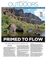 What Landers' rafting story looked like in Sunday's Spokesman-Review.