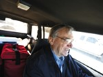 In this 2013 photo, Meals on Wheels volunteer Ed Eichwald drives to make a delivery in Coeur d'Alene.