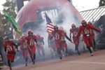 Eastern Washington players enter the field before the game.