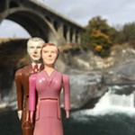 Below the Monroe Street Bridge, in Huntington Park