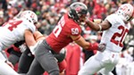 Junior defensive tackle Hercules Mata'afa, driving Stanford's Bryce Love backward, leads a resurgent Washington State defense with 21½ tackles for loss and 9½ sacks, recording multiple tackles for loss in eight of 11 games.