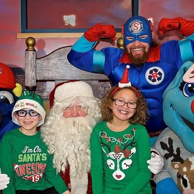 Santa Visits Avista Stadium