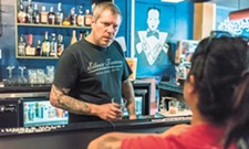 With bright blue walls and open floor, Berserk bar brings art, rock and booze to downtown Spokane