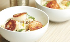 Impress at home with scallops, mushroom leek risotto and strawberry crunch ice cream bars