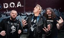 Punk band D.O.A.'s backdrop, stolen after Spokane show, no longer M.I.A.