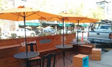 Spokane's first parklet popped up overnight this week