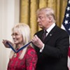 Trump awards Medals of Freedom to Elvis, Babe Ruth and Miriam Adelson