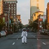 Local artists' project features everyday people in an Apollo 11 space suit