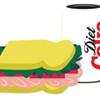 A Turkey Sandwich and Diet Coke