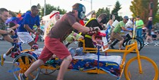 Valleyfest hosts the Lion's Club Bed Races.