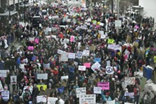 YOUNG KWAK - The crowd during Spokane's inaugural Women's March in 2017.