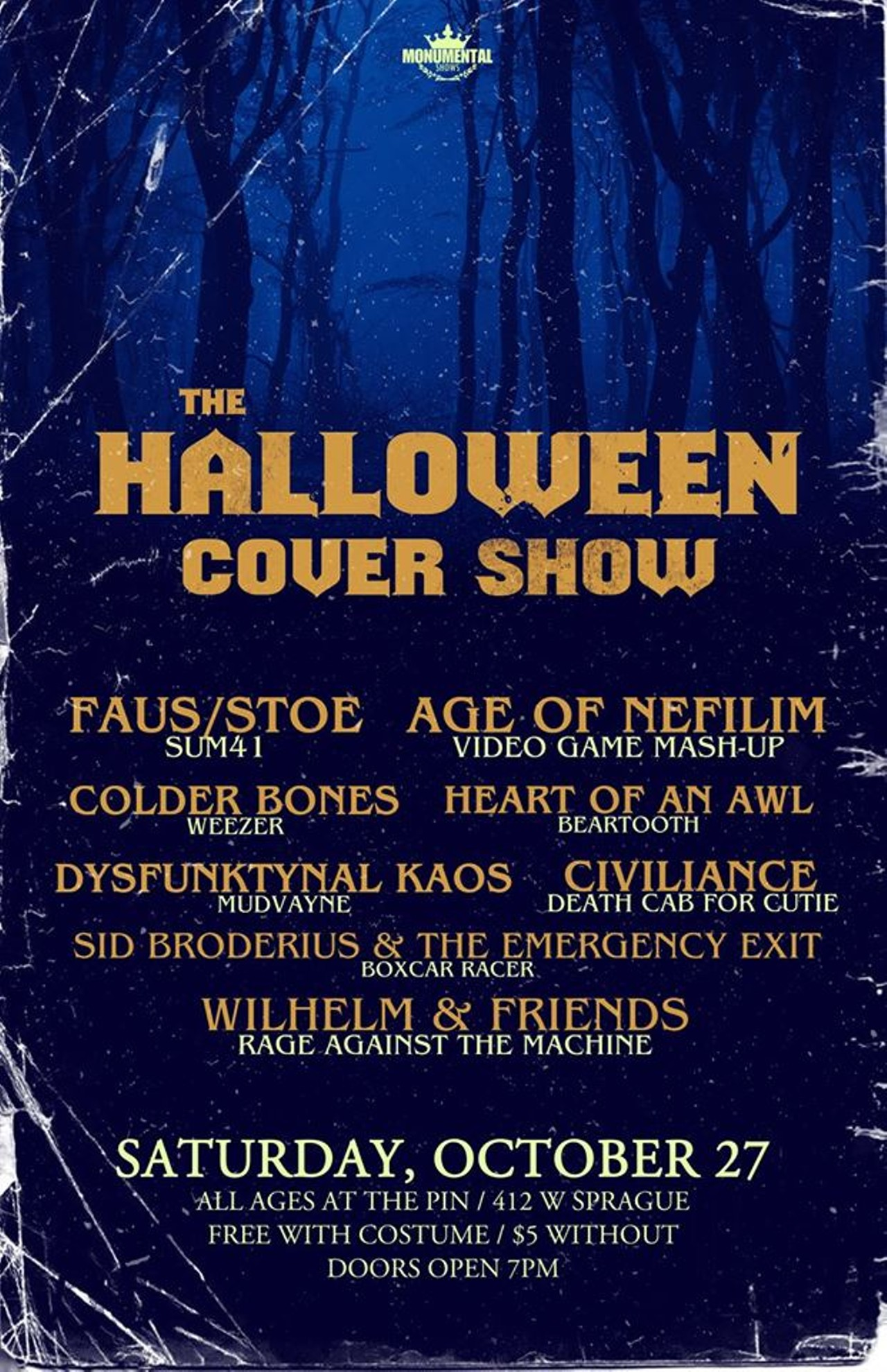 halloween cover show w/age of nefilim, faus, dysfunktynal kaos, sid