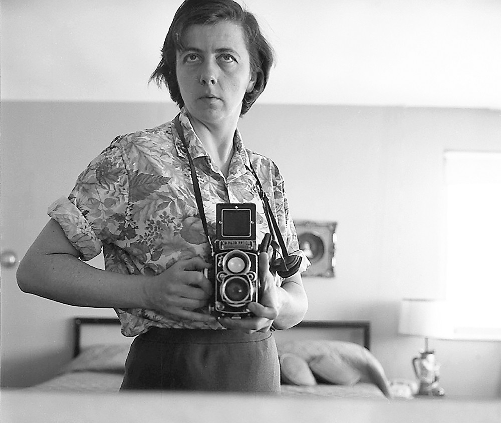 Vivian Maier as the subject of one of her own photos.
