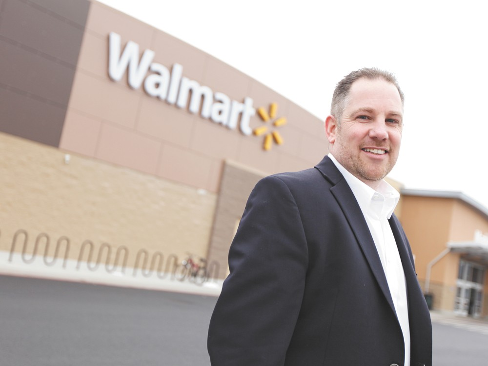Walmart's Brian Mansfield is touting  Spokane Valley's business savvy. - YOUNG KWAK