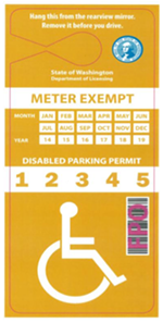 """Example of """"Payment Exempt Disabled Permit"""" that could be created for those whose disabilities make it physically difficult to plug the meter."""