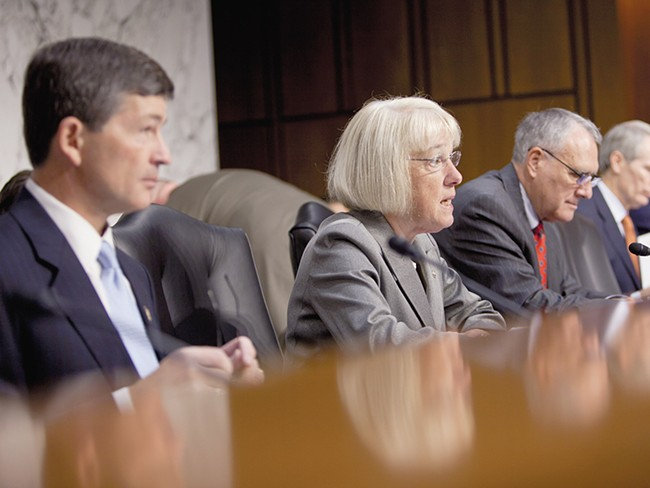 Washington Sen. Patty Murray speaks during a Joint Deficit Reduction Committee hearing. - ANDREW HARPER