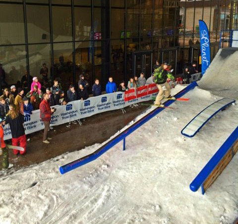 Washington Trust Rail Jam in full swing.