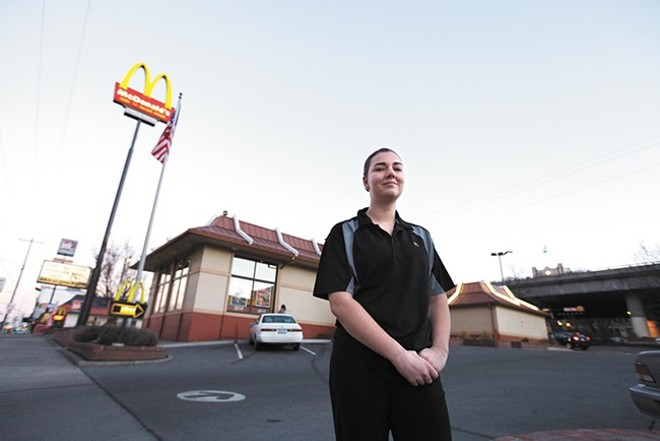 McDonald's cashier and Eastern Washington University student Kierra Fitzpatrick - YOUNG KWAK