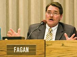Councilman Mike Fagan, former Rogers High School parent.