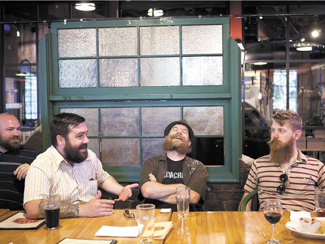 """We need more beards in Spokane,\"" says Eric Bandholz, who founded Spokane Beard and Moustache Club. - STEPHEN SCHLANGE"