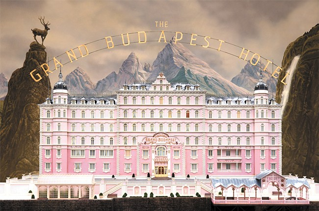 Wes Anderson gives us another visual treat with Grand Budapest Hotel.