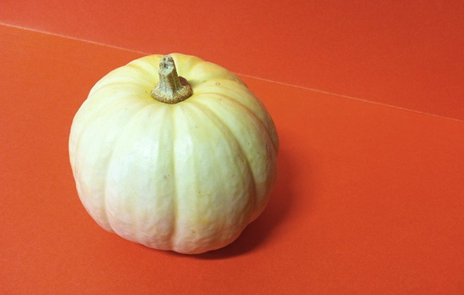 What would make a festive photo? Ah, my cute little desk pumpkin.