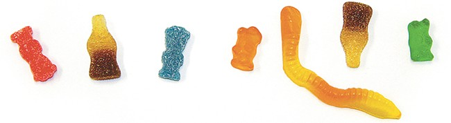 Which of these gummies are infused with THC? (The answer is at the end of the story.)