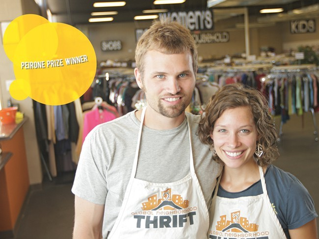 Brent and Amy Hendricks won the Peirone Prize in 2011 for their outstanding work helping refugees. - YOUNG KWAK