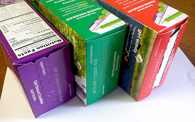 If you're as lucky as we are, you know a Girl Scout who's already delivered your boxes.