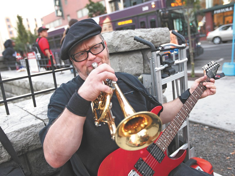 William Cruz was ticketed after playing music in downtown Spokane. - YOUNG KWAK
