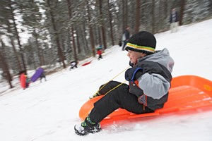 Sledding at Underhill Park