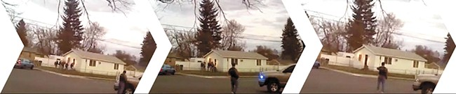 Witness video discredited initial accounts of the Corkery shooting.