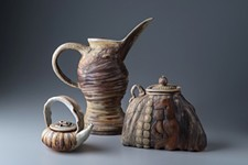 HAMILTON STUDIOS, MATT VIELLE - Wood-fired pitcher, pocket and teapot, by Gina Freuen.