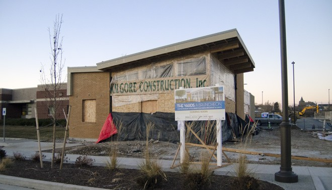 Yards Bruncheon, scheduled to open in February, under construction in Kendall Yards on Wednesday. - LISA WAANANEN